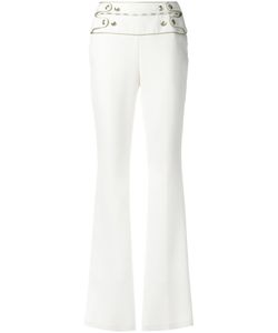 Pierre Balmain | Buttoned High-Waisted Trousers 40 Polyamide/Viscose/Spandex/Elastane/Polyester