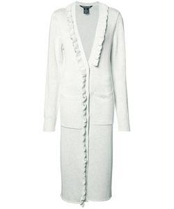 Thomas Wylde | Lydia Ruffled Cardi-Coat Xs Silk/Cotton/Viscose