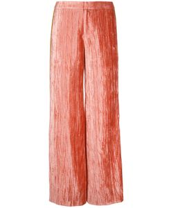 Irene | Stripe Detail Velvet Trousers Size