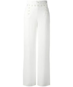 Joseph | Wide Leg Trousers 42 Viscose/Acetate/Spandex/Elastane/Cotton