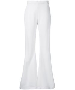 Brandon Maxwell   Piped Fla Trousers 6 Viscose