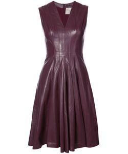 Carolina Herrera | Платье Со Сборками И V-Образным Вырезом