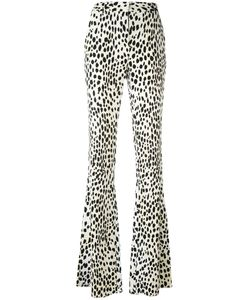 Roberto Cavalli | Flared Leopard Print Trousers Size 48
