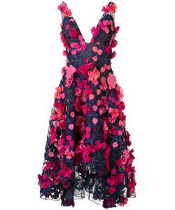 Marchesa Notte | Applique V-Neck Dress Size 4