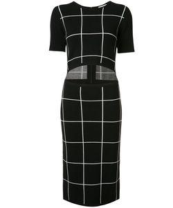 Grey Jason Wu   Slit Waist Checked Dress