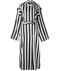 Nina Ricci | Striped Double-Breasted Long Coat