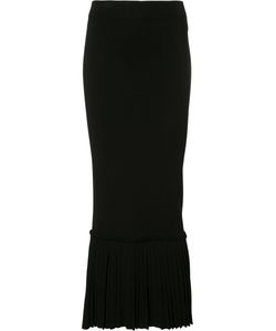 Jonathan Simkhai   Pleated Trim Skirt Small Rayon/Nylon
