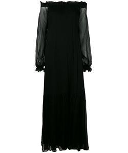 P.A.R.O.S.H. | P.A.R.O.S.H. Sheer Sleeve Bardot Dress