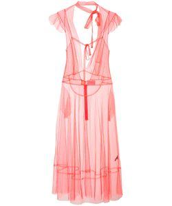 Les Animaux   Прозрачное Платье С Завязками На Шее