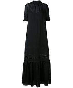 Mcq Alexander Mcqueen | Длиннное Платье С Высокой Горловиной