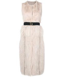 Blancha   Sleeveless Fur Coat