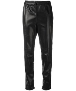Saint Laurent | Leather Straight Leg Trousers 36 Lamb