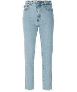 Magda Butrym   Straight Leg Raw Edge Jeans Women