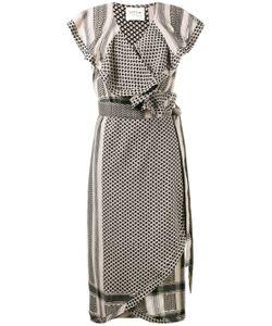 CECILIE COPENHAGEN | Keffiyeh Ruffled Sleeve Dress
