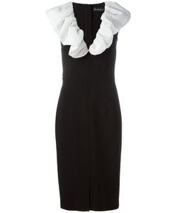 ROSSELLA JARDINI   Ruffled Neck Dress 44