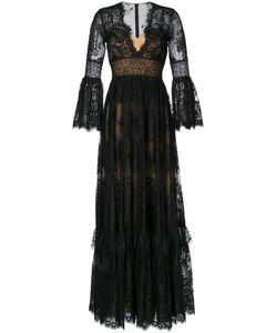 Zuhair Murad | Кружевное Длинное Платье С V-Образным Вырезом