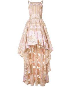 Marchesa Notte | Asymmetric Hem Dress 10 Nylon