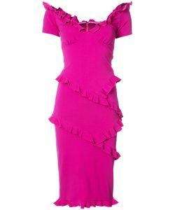 Nicole Miller | Облегающее Платье С Оборками
