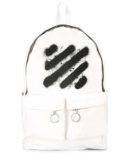 OFF-WHITE | Spray Stripes Printed Backpack Cotton