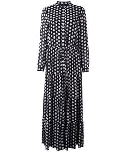 Michael Michael Kors | Tier Panelled Polka Dot Print Tie Waist Dress