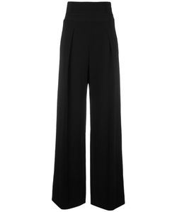 Emporio Armani | High-Waisted Trousers 42 Viscose/Spandex/Elastane