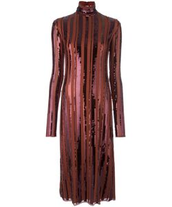 Nina Ricci | Sequin Embellished Turtleneck Dress 38 Silk