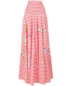 Mira Mikati | Printed Stripe Skirt Medium/Large Cotton