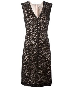 Lanvin | V-Neck Fitted Lace Dress 40 Polyamide/Acetate/Viscose