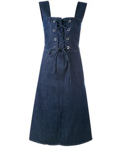 See By Chloe | See By Chloé Lace-Up Denim Midi Dress