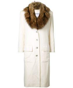 Chanel Vintage | Пальто Со Съемным Меховым Воротником