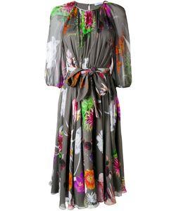 Blumarine   Print Semi-Sheer Dress