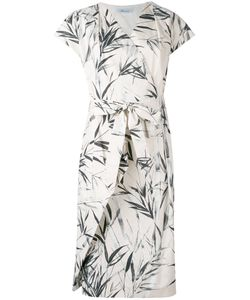 Blumarine   Leaf Print Wrap Dress