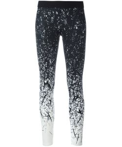 Reebok | Brushes Print Leggings Medium Polyester/Spandex/Elastane
