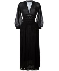 Sonia Rykiel | Sheer Detail Long Dress Large Alpaca/Polyamide/Polyurethane