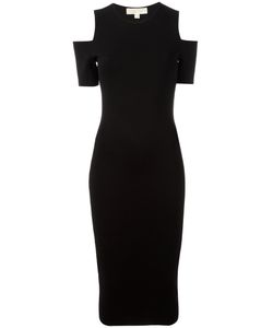 Michael Michael Kors | Cold-Shoulder Midi Dress Medium Viscose/Nylon