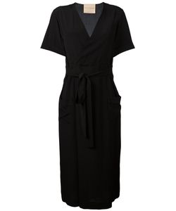 Erika Cavallini | Crossed Neck Belted Dress Size