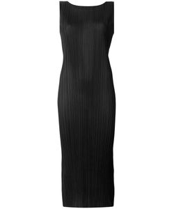 PLEATS PLEASE BY ISSEY MIYAKE | Плиссированное Приталенное Платье Миди