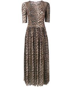 Ganni | Платье-Макси В Леопардовый Принт Olivet