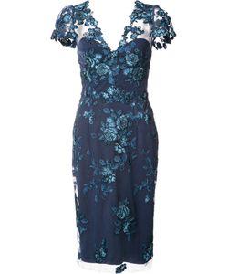 Marchesa Notte | Lace Midi Dress 8 Nylon