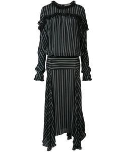 Preen By Thornton Bregazzi | Long Striped Panel Dress Size Small