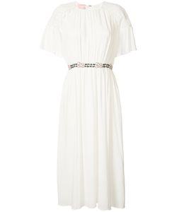 GIAMBA   Belted Lace Cap Dress