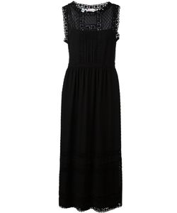 Red Valentino | Long Lace Trim Dress 44 Polyester