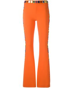 Moschino | Mirror Embroide Fla Trousers 40 Triacetate/Polyester