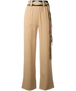 Veronique Leroy   Scallop Belted Trousers Size 40