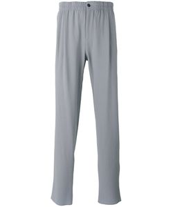 Giorgio Armani | Mid-Rise Crepe Trousers 54 Spandex/Elastane/Virgin Wool/Cotton