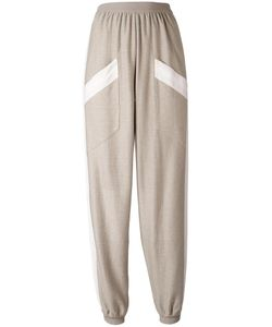 Agnona | Contrast Trimmed Track Pants Large Cotton/Cashmere