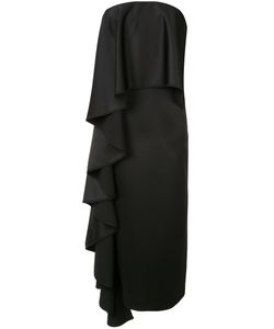 Solace | Ruffled Strapless Midi Dress Size 2