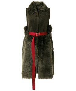 Blancha | Belted Waistcoat Women Leather/Sheep Skin/Shearling/Nylon/Metal Other