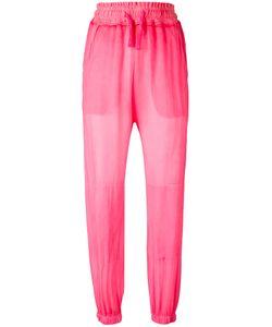 Amen | Drawstring Waist Trousers 40 Silk/Cotton/Spandex/Elastane