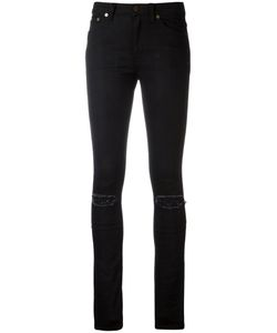 Saint Laurent | Distressed Skinny Jeans 27 Cotton/Leather/Spandex/Elastane/Cotton